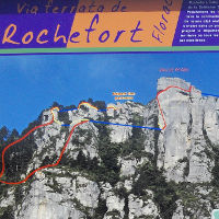 Plan der Via Ferrata de Rochefort